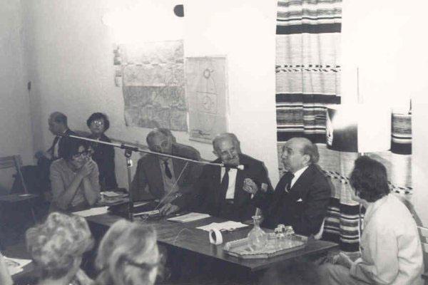 1965 – 5ª Semana Internacional de Psicossintese.Rev. Rey, Dra. Fusini Doddoli, Gabriello Cirinei, Dr. Roberto Assagioli, Dr. Henri Baruk, Maria Panizza.