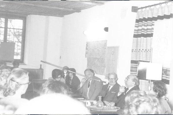 1965 – 5ª Semana Internacional de Psicossintese.Gabriello Cirinei, Dr. Roberto Assagioli, Dr. Henri Baruk.