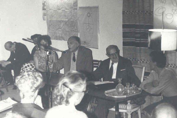 1965 – 5ª Semana Internacional de Psicossintese.Rev. Rey, Dra. Fusini Doddoli, Gabriello Cirinei, Dr. Roberto Assagioli, Dr. Luce Sannangelantonio.