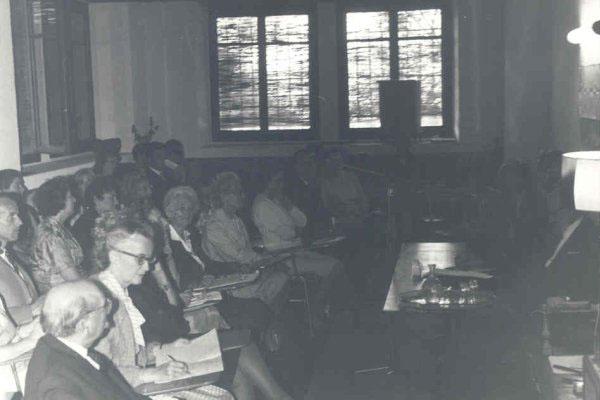 1965 - 5ª Semana Internacional de PsicossinteseDr. H. Baruk, Dr. Grace Petitclerc, Florence Garrigue, Tilla Grenier