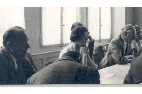 3ª Semana Internacional de Psicossintese 24 – 31/08/1960Gabriello Cirieni, de costas: Robert Desoille