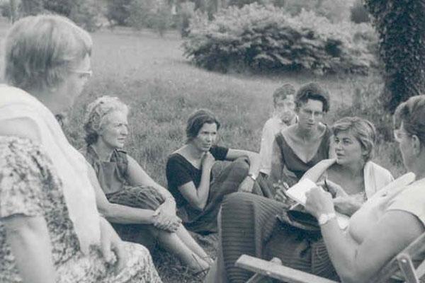 1961 Senhoras Francesas: Michele Lauriat, Yvonne Berge, Srta. Lanfranchi e outras.