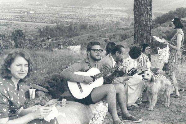 """1963 - Congresso IARD (Rotary/Milão) para os superdotados – Capolona, """"La Nussa""""Dr. Reingard de Köln (Alemanha),  segundo """"Engel""""."""